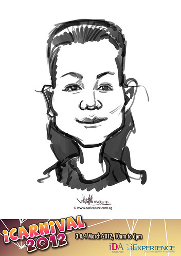 digital live caricature for iCarnival 2012  (IDA) - Day 1 - 81