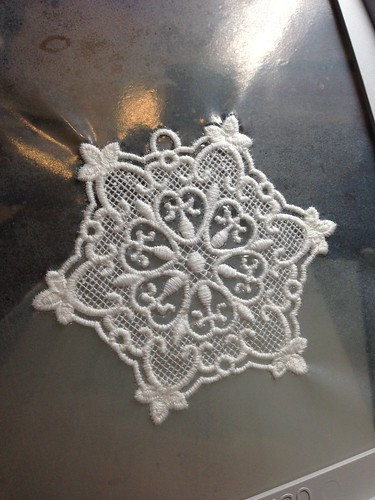 Freestanding Lace Snowflake - Cotton serger thread