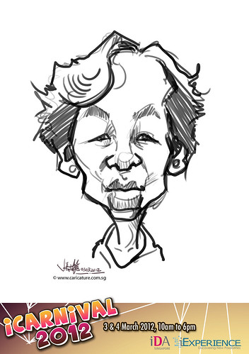 digital live caricature for iCarnival 2012  (IDA) - Day 1 - 7