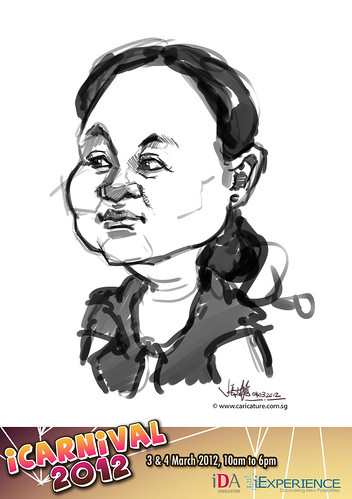 digital live caricature for iCarnival 2012  (IDA) - Day 2 - 25