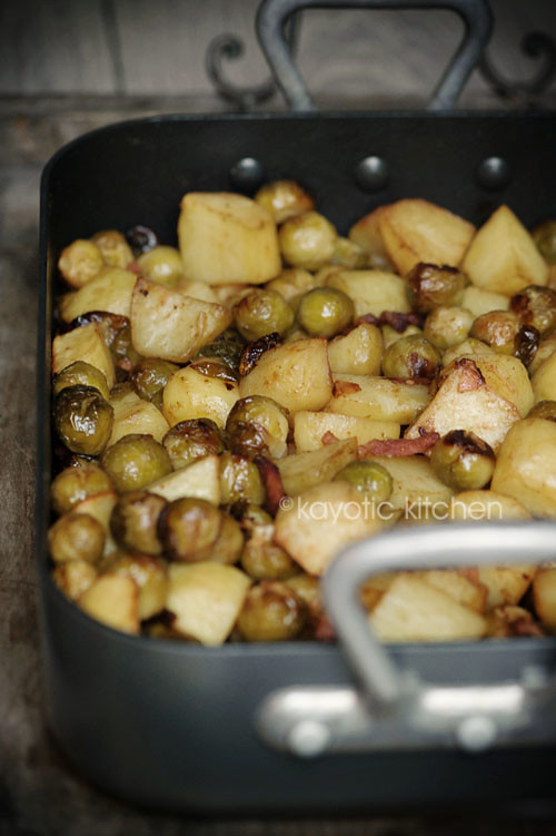 Potato, Sprouts & Bacon Medley
