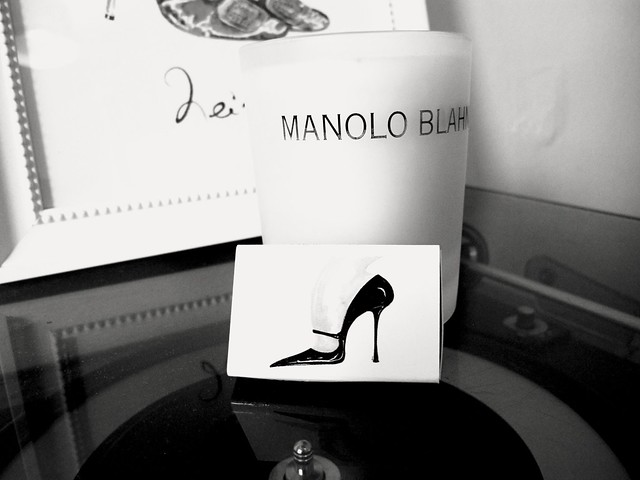 Manolo Blahnik candle