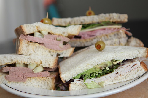 White Christmas Sandwiches