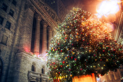 ウォール街のツリー  Christmas Tree on Wall Street
