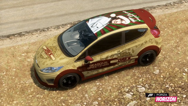 2009 Ford Fiesta Zetec S with Dak's Season's Greetings livery