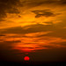 Apocalypse!! Fiery red sunset by Lisa Bettany {Mostly Lisa}