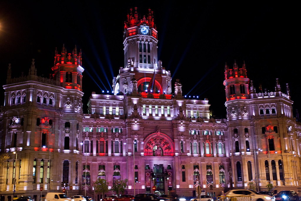 Palacio de Cibeles, Natal em Madri