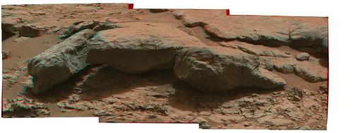 CURIOSITY sol 127 Mastcam R L anaglyph