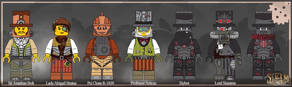 Lego Steampunk Train Steampunk Lego Concept