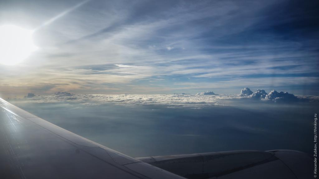 Облака по пути в Гонконг
