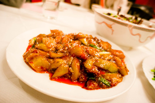Chinese's Spicy aubergine in spicy sauce