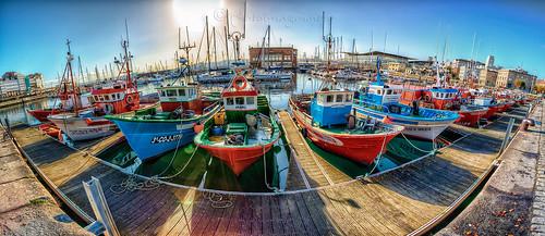 Panorama hdr del puerto de A Coruña by Jasobeam