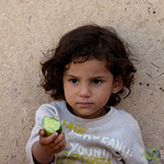 Young Egyptian Girl in Pottery Village of Tunis - Fayoum. Egypt