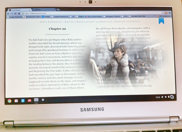 Ending the Year Reading Anna Karenina on My Chromebook
