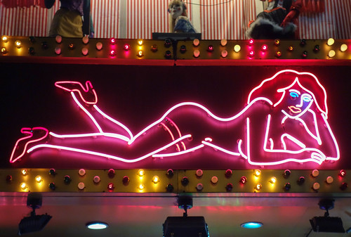 Neon Nude in Times Square by Scott Beale
