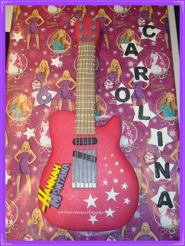Bolo Guitarra Logo Hannah Montana 8 by Osbolosdasmanas