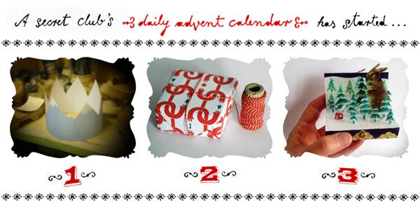 advent calendar 1, 2, 3