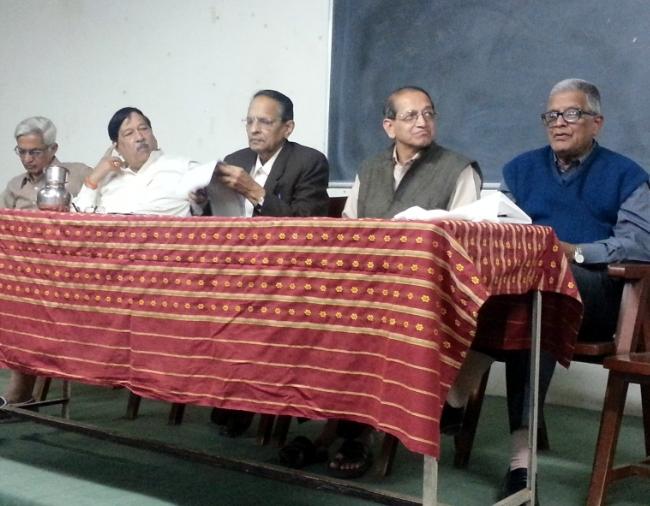 Suryakant Pathak, MLA Girish Bapat, Advocate M. P. Bendre, Advocate Govind Patwardhan and Sudhakar Velankar