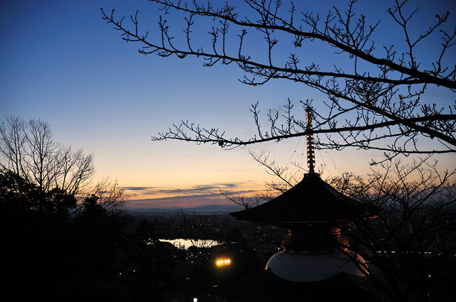 中山観音公園から初日の出