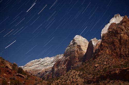 [フリー画像素材] 自然風景, 渓谷, 岩山, 星, 夜空, 風景 - アメリカ合衆国 ID:201301042000