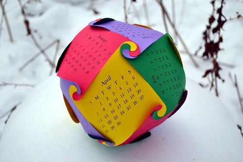 Rhombic Dodecareuleaux Calendar 2013