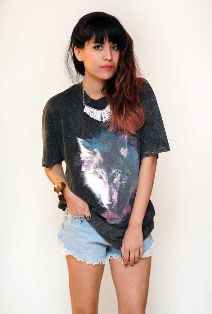 vintage galaxy wolf shirt by Tarte Vintage at shoptarte.com