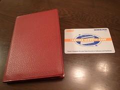 スキミング防止、パスポート用とクレジットカード用