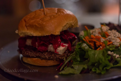 Beet Burger at Burgh'ers
