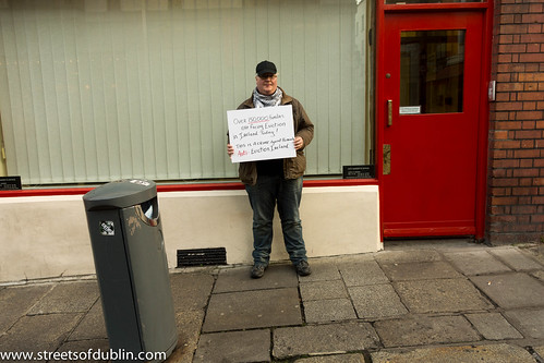 Lone Protester (Anti-Eviction Ireland) - Streets Of Dublin by infomatique