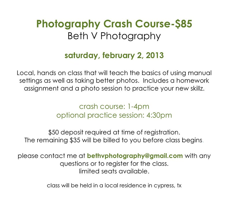 feb Photography Crash Course