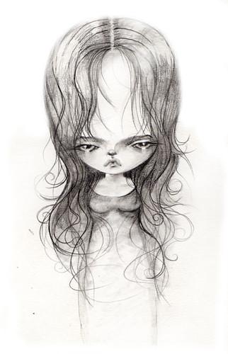 study of a pouty face