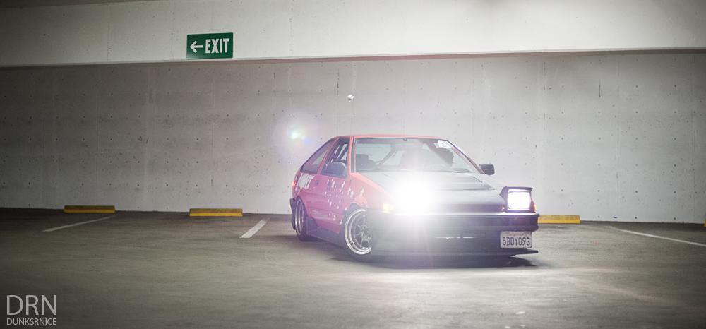 Andrew's 85' Corolla.