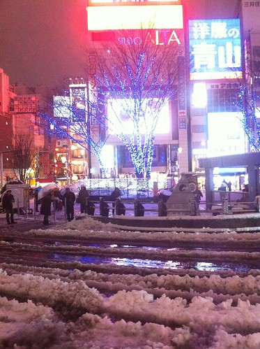 Shinjuku became a snow-covered winter wonderland