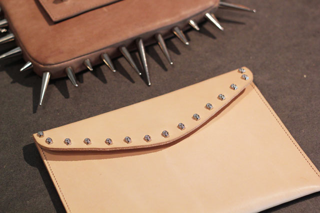 spiked skull studded clutch bag Urban Outfitters SS13 press day