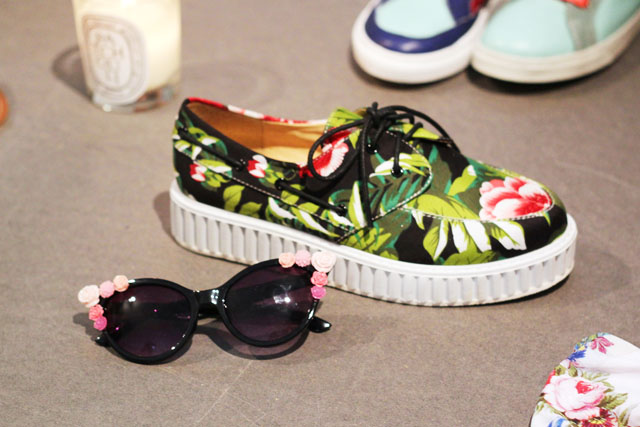 tropical flatform trainers Urban Outfitters SS13 press day