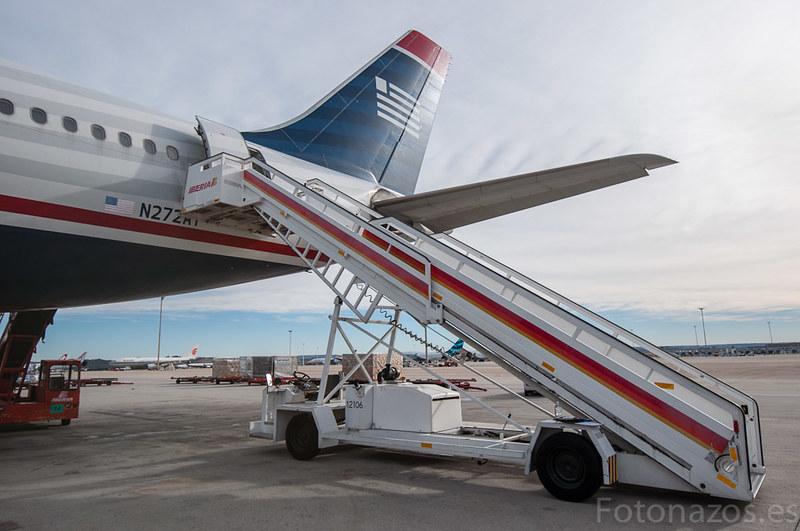 #Usairwaysday descubriendo como se prepara el vuelo, el avión y el catering
