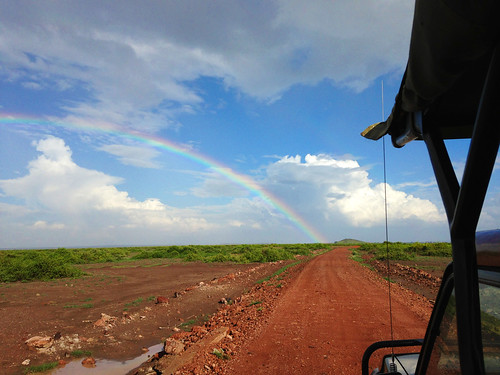 Rainbow in Amboseli