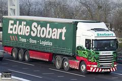 Scania R440 6x2 Tractor - PE11 AZG - Amelia - Green & Red - Eddie Stobart - M1 J10 Luton - Steven Gray - IMG_1007