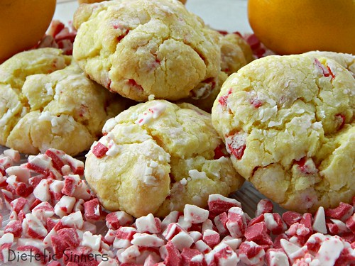Gooey Lemon Peppermint Chip Cookies