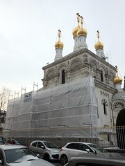 #297 G_09  Geneva - Russian Orthodox Church after vandalization
