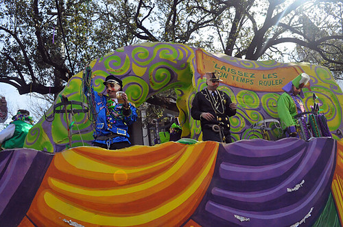 Krewe of Carrollton Parade on St Charles Ave