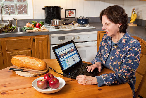 "A consumer uses the U.S. Department of Agriculture's (USDA) ChooseMyPlate.gov website on Dec. 14, 2011. This is an interactive website used for creating customized healthy dietary plans that include required daily vitamins and minerals, and age and gender appropriate daily portions and calorie levels. Users can also tap tools called ""Daily Food Plan,"" ""SuperTracker,"" and ""Food-a-Pedia"" on this site. USDA photo by Stephen Ausmus."