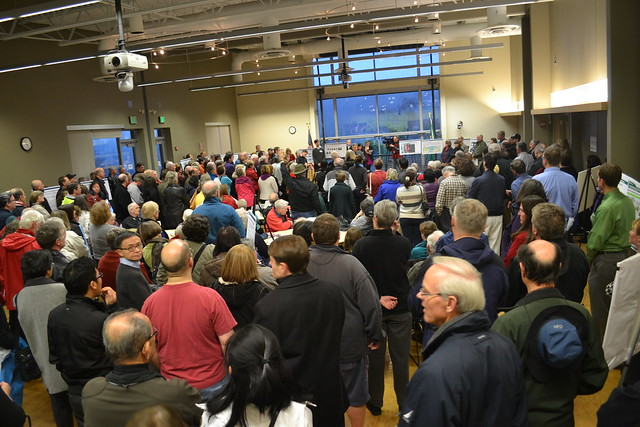 Audience at the Mercer Island public meeting
