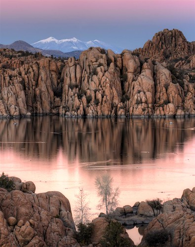 pink sunset arizona lake four san francisco peak az boulders flagstaff watson granite peaks prescott majenta humphreys earthshadow arizonapassages