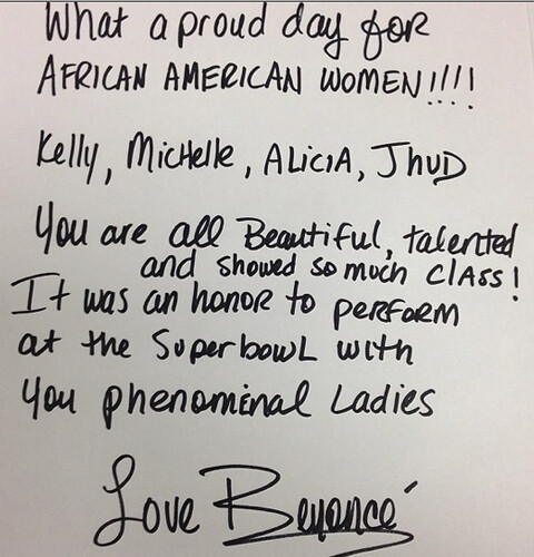 Beyonce African American Women Note