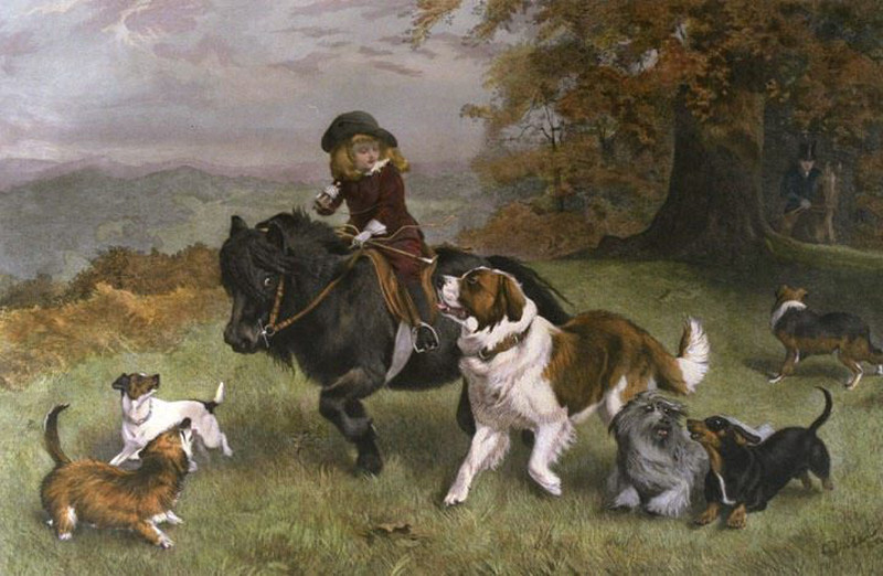 A Scratch Pack by Charles Burton Barber