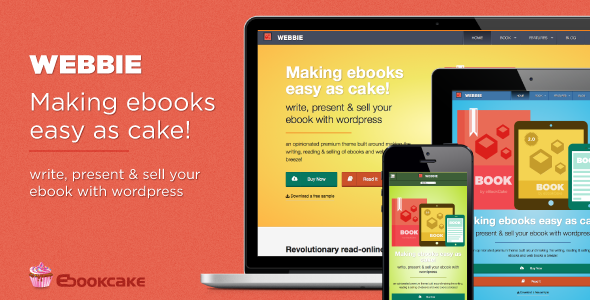 Webbie 1.0 - WordPress theme for ebook authors