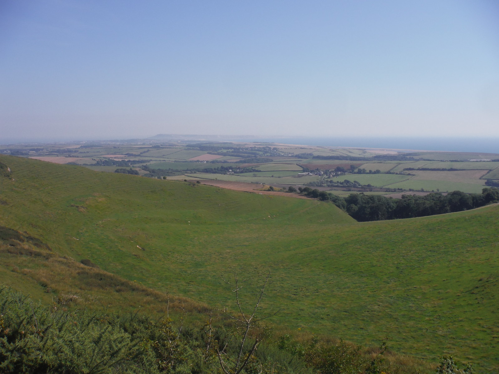 Descent to Portesham with Views of Jurassic Coast SWC Walk 275 Dorchester South Circular or to Portesham (Extension)