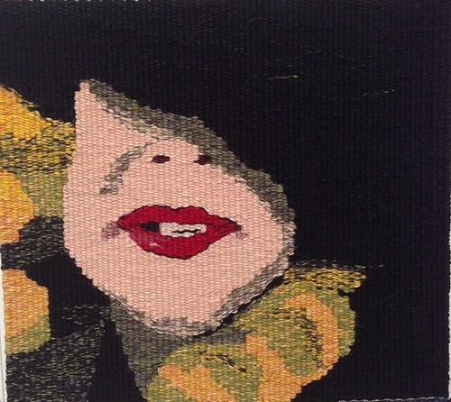 You've Been a Bad Girl Gaga, woven tapestry by Mardi Nowak