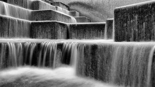blackandwhite bw wet water monochrome sanantonio stairs mono waterfall texas fuji steps slowshutter fixed fixedlens x100 digitalvisual fujix100